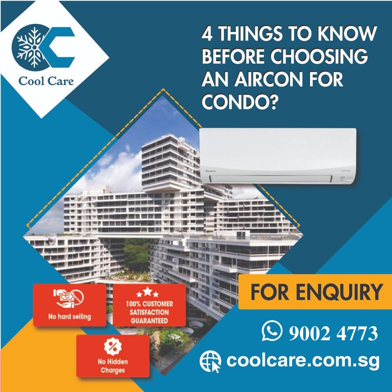 4 things to know before choosing an aircon for condo?
